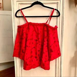 Jack by bb Dakota size m red lace top